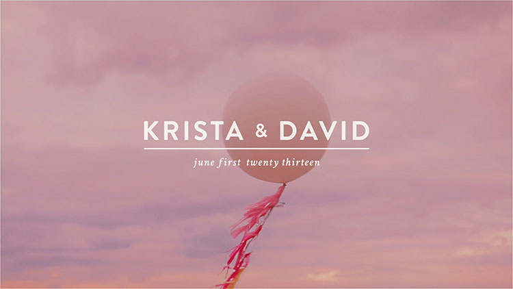 Krista David Burlington Wedding Video