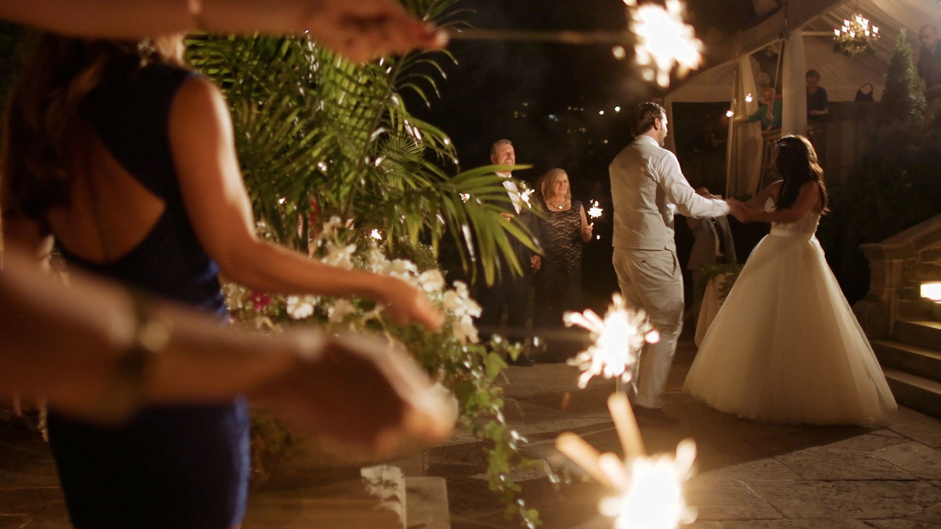 First Dance Sparklers Wedding Video Toronto