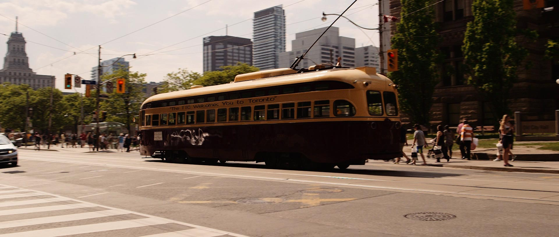 Chartered Streetcars for Toronto Wedding Video