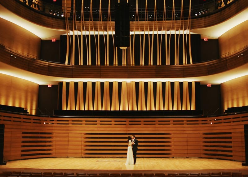 Alexis and Eugenio Toronto Royal Conservatory of Music Wedding Cinematography by Outside In Studio