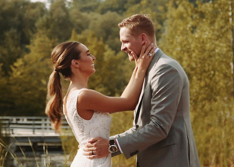 Blakeny and Corey Perry's NHL wedding film at Evergreen Brickworks. Winner of the Best Wedding Cinematography in Toronto.